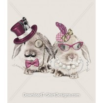 Elegant Dapper Dress Up Bunny Rabbits