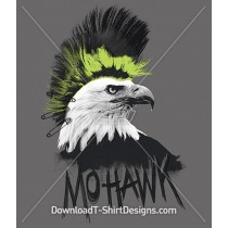 Mohawk Punk Eagle Bird