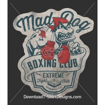 Vintage Mad Bull Dog Boxing Club Boxing Gloves