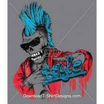 Punk Skull Graffiti Mohawk Sunglasses