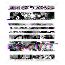 City Highway Traffic Pop Art Glitch Stripe