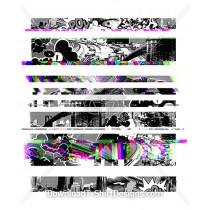 City Highway Traffic Pop Art Glitch Stripe