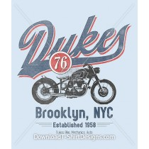 Brooklyn New York Dukes 76 Vintage Motorcycle