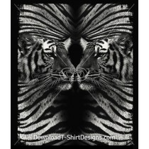 Tiger Head Skin Reflection