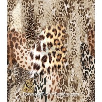 Abstract Tiger Leopard Skin Collage Seamless Pattern