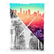 Los Angeles City of Dreams Palm Trees City