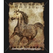 Vintage Grunge Wanted Unicorn Poster