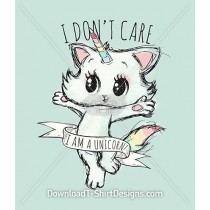 Cute Kitten Unicorn Slogan Quote