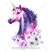 Enchanted Mystical Unicorn Flower Portrait