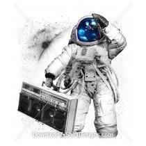 Space Astronaut Jelly Fish Music Boom Box
