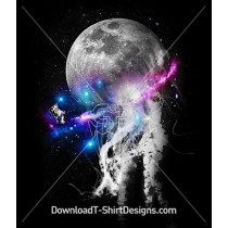 Space Galaxy Planet Jellyfish Astronaut