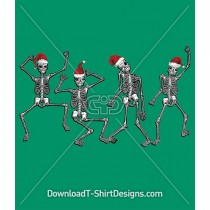 Christmas Festive Skeleton Dancing Party