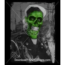 Scary Zombie Skull Sailor Navy Sea Ship