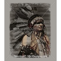 American Indian Chief City Skyscraper Building Headdress