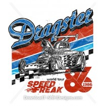 Retro Dragster Racing Stripe Hot Rod