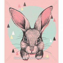Cute Bunny Rabbit Portrait Illustration