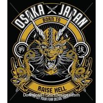 Japanese Oriental Dragon Raise Hell Emblem
