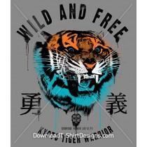 Collegiate Japanese Tiger Warrior Animal Head