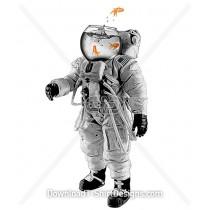 Gold Fish Bowl Head Astronaut