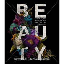 Dark Vintage Floral Nature Beauty Slogan Quote
