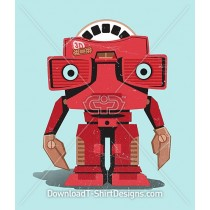 Retro Picture Viewer Toy Robot Character