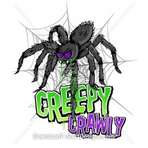 Creepy Crawly Monster Spider Slime Web