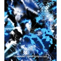 Tie Dye X-Ray Seamless Pattern