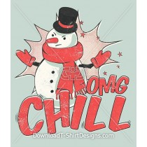 OMG Chill Retro Pop Art Christmas Snowman