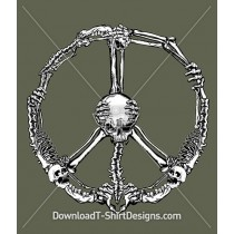 Skeleton Bones Peace Sign