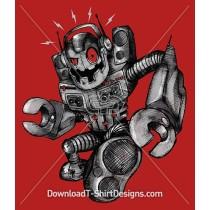 Boom Box Speaker Robot Character