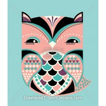 Cute Folk Art Pattern Owl