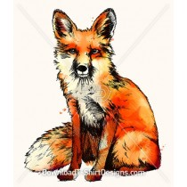 Watercolor English Forest Fox
