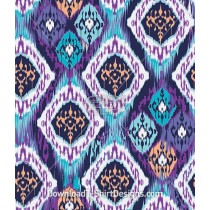 Ethnic Purple Modern Ikat Seamless Pattern