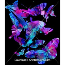 Bright Abstract Pattern Fill Butterflies