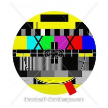 Television Test Pattern Happy Smiley Emoji Face
