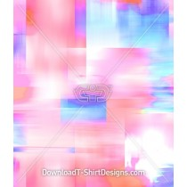 Pastel Abstract Geometric Blur Seamless Pattern
