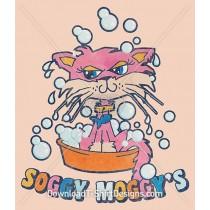 Retro Soggy Moggy Kitten Cat Cartoon