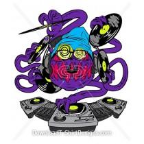 DJ Alien Monster Character Record Music Turntable