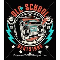 Retro Old School Music Ghetto Blaster Boom Box
