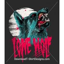 Lone Wolf Scary Werewolf Blood Full Moon