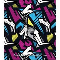 Graffiti Arrow Angular Seamless Pattern