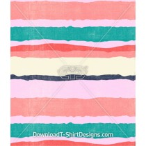 Ripped Stripes Watercolor Seamless Pattern