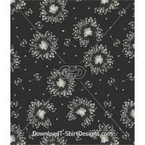 Wishing Dandelion Floral Seamless Pattern