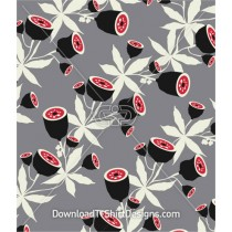 Abstract Plant Pods Leaves Seamless Pattern