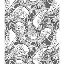 Shoes Lace Sneaker Seamless Pattern