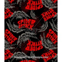 Spider Web Attack Seamless Pattern