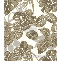 Natural Tropical Hibiscus Leaves Seamless Pattern