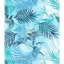 Tropical Palm Leaf Pattern Seamless Pattern