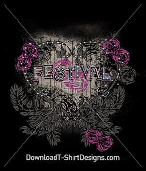 Vintage Decorative Floral Festival Heart