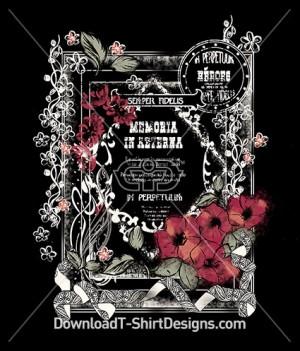 Vintage Decorative Floral Poster